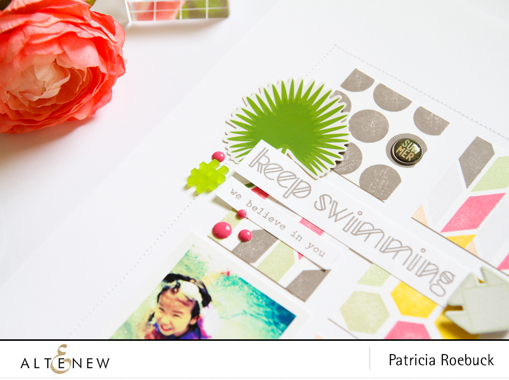 Repetitive Stamping with Simple Shapes. By @paroe - Stamps @Altenew
