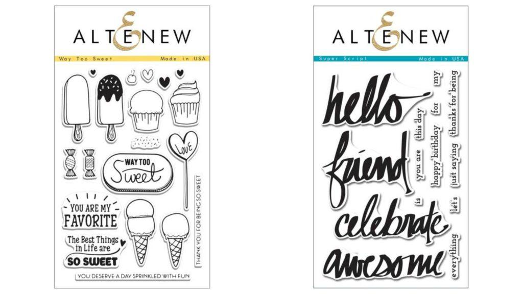 altenew stamps way too sweet
