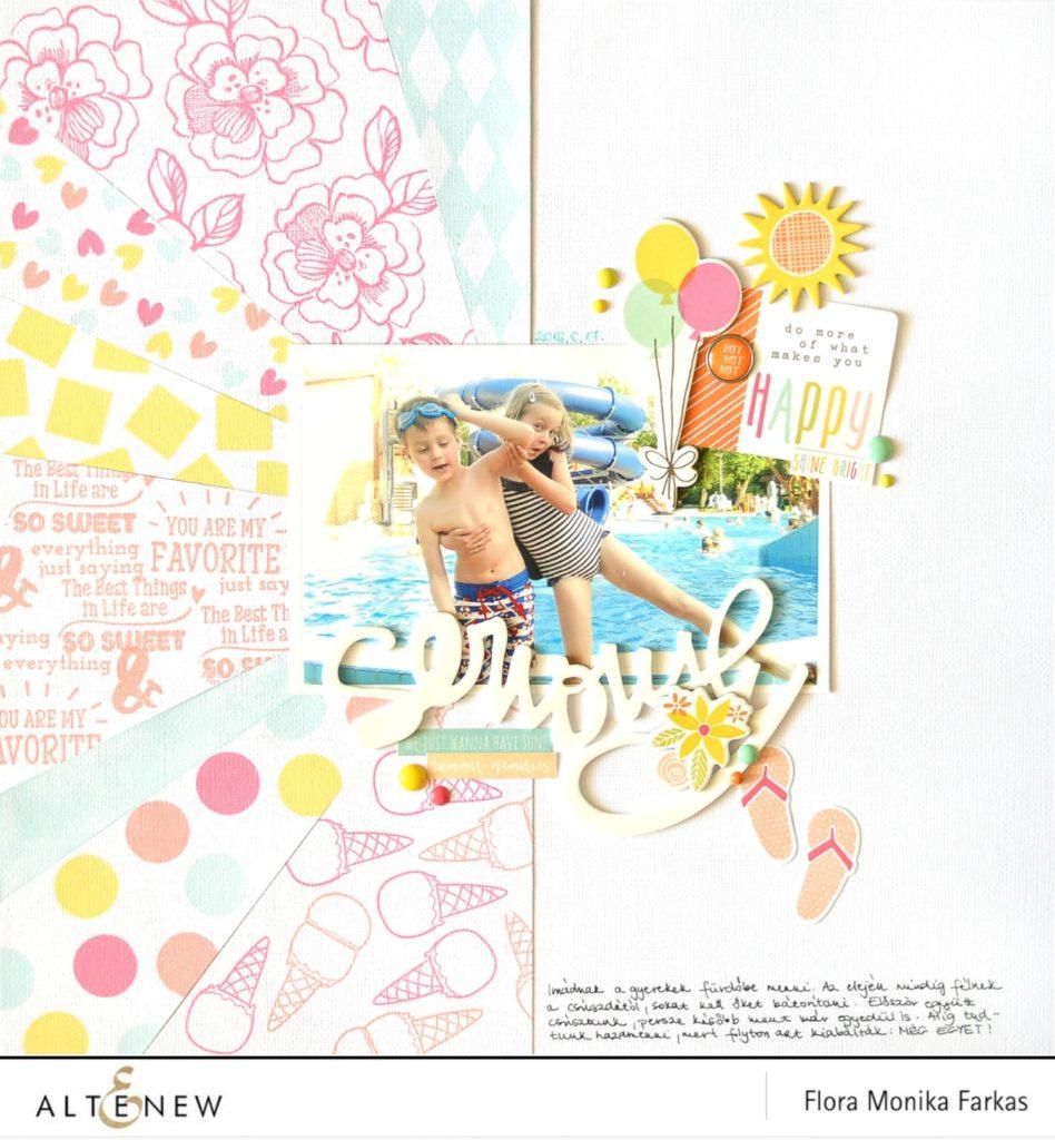 altenew scrapbook layout by @floramfarkas