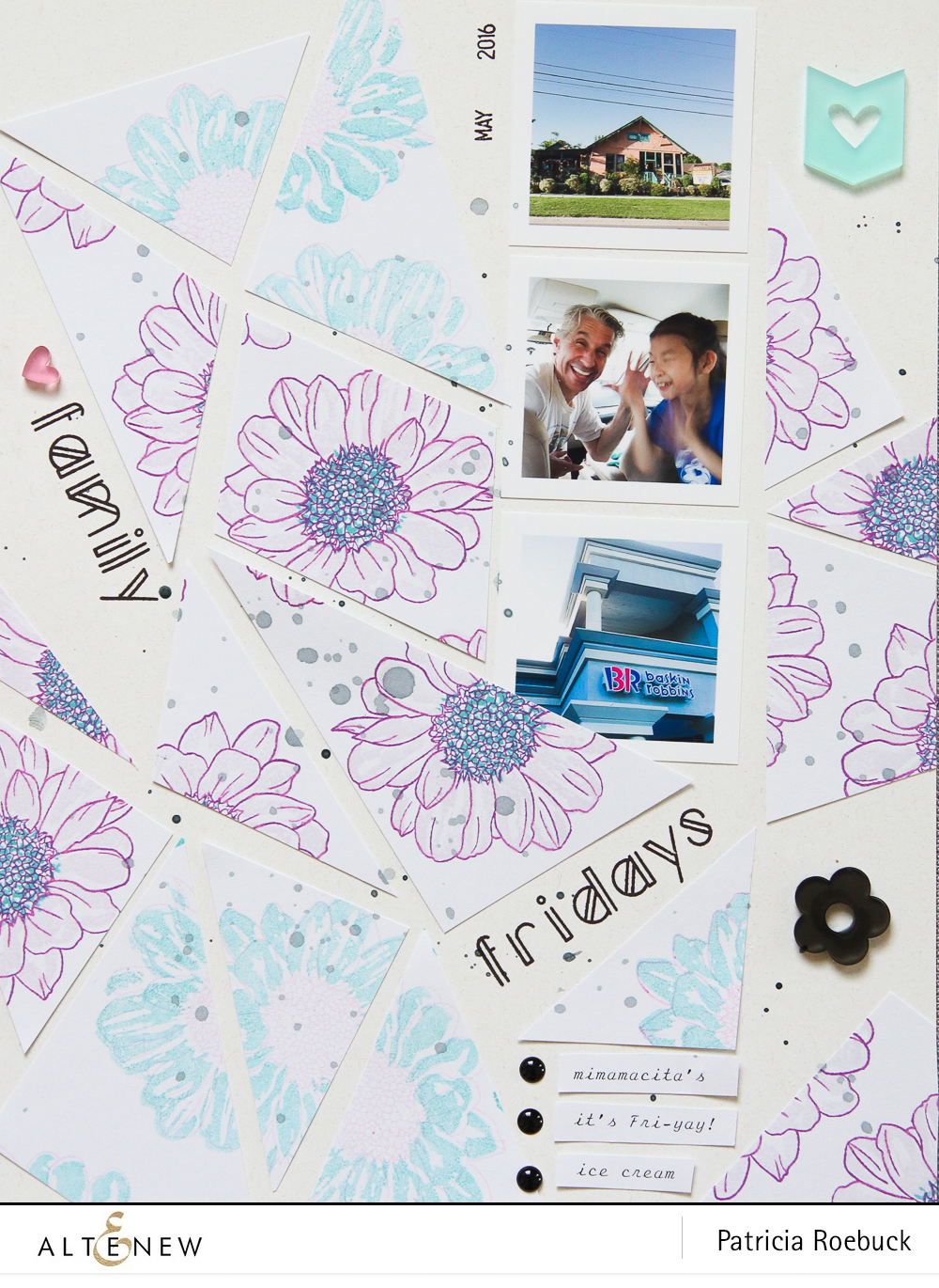 Stamping on Layout by @paroe Stamps by @altenew
