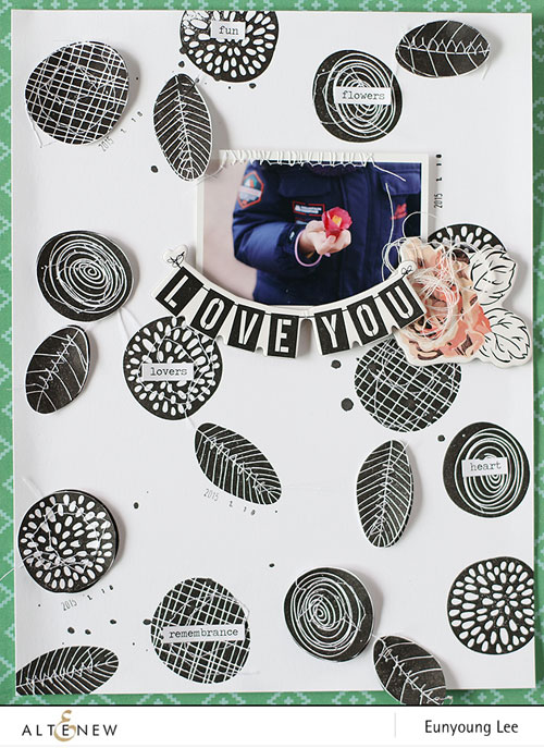 a layout with simple flowers stamp set  altenew blog