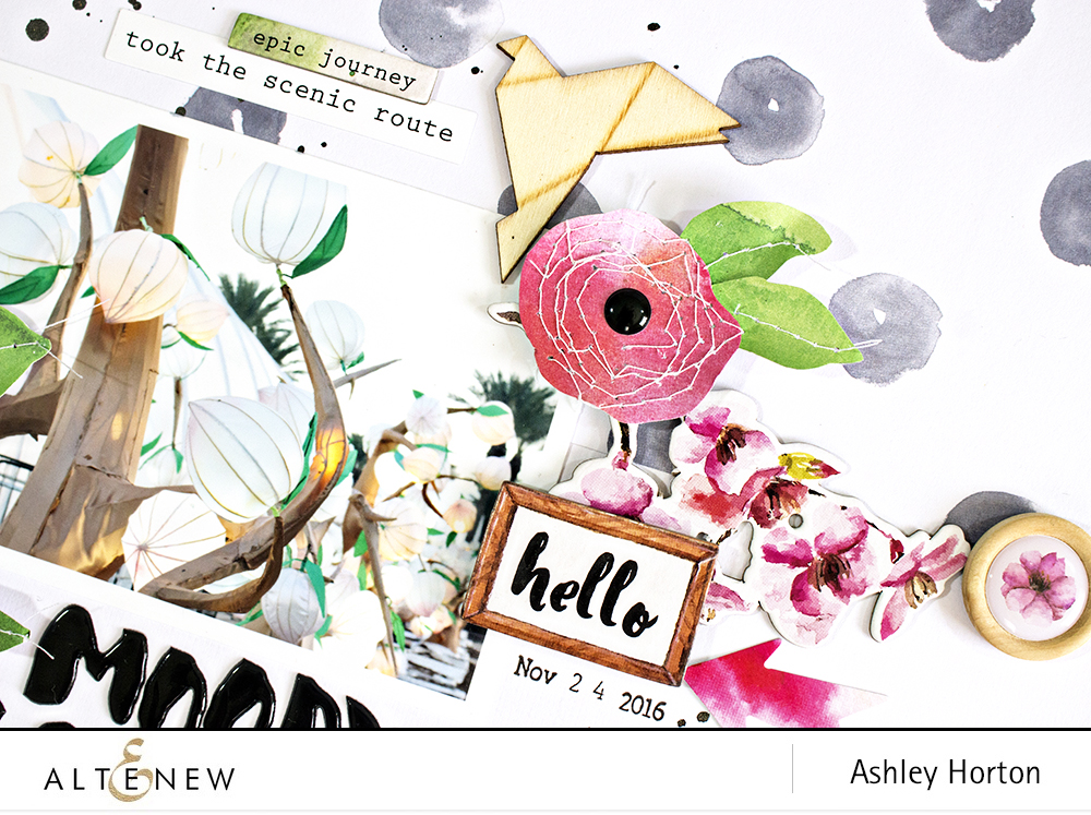 Create your own DIY flowers with patterned paper. By @ahorton, Reflection Collection - @Altenew