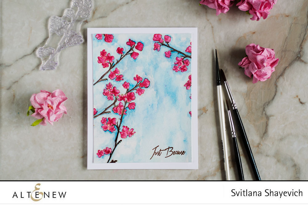 Stamp Focus Under The Cherry Blossom Tree Altenew Blog