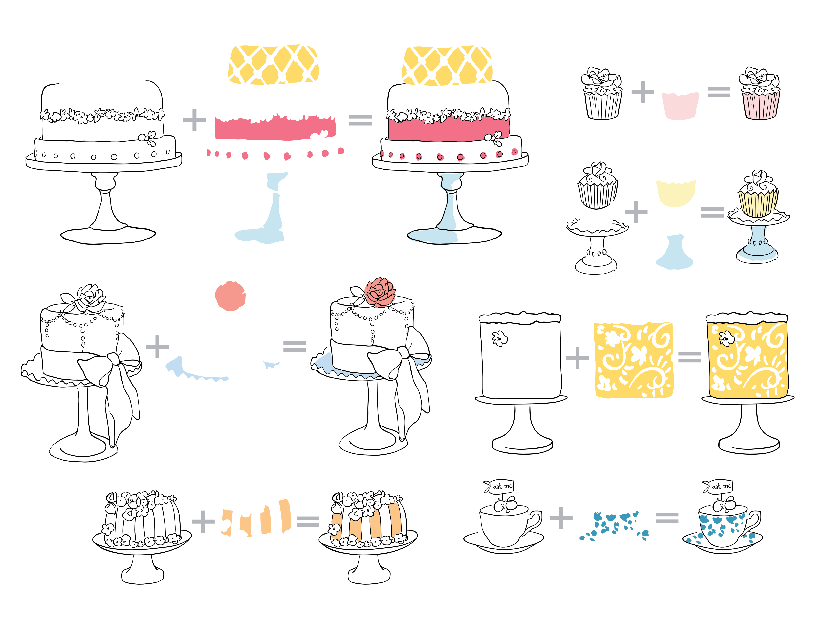 Cake Love Layering Guide Candlelight Stamp Set