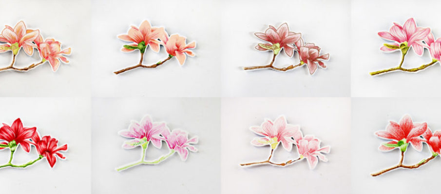 Eight different looks and colouring techniques featuring Altenew Build-A-Flower Magnolia by Erum Tasneem - @pr0digy0