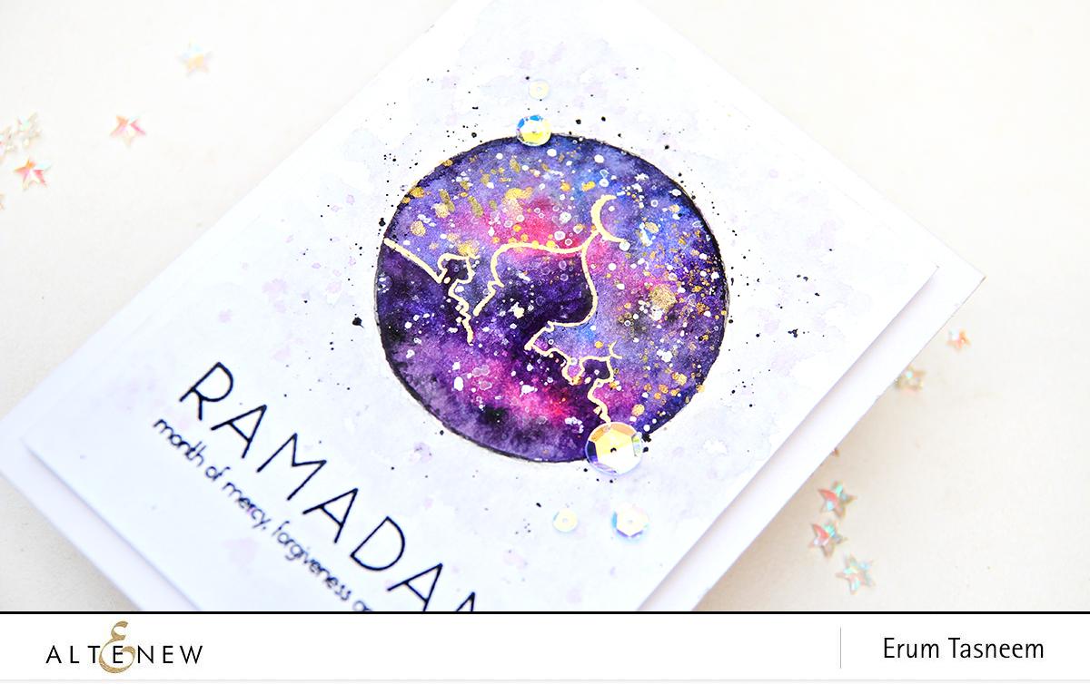 Video Watercolor Galaxy With Ramadan Greetings Altenew Blog