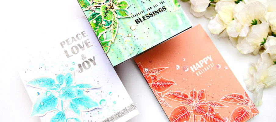 Altenew Festive Poinsettia Stamp Set | Erum Tasneem | @pr0digy0